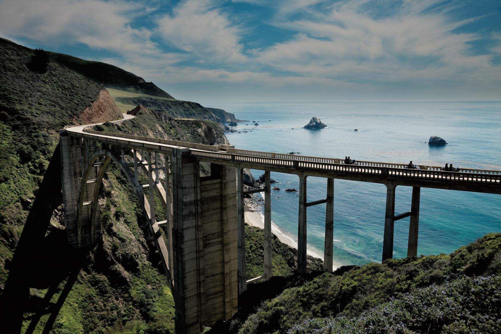 Harley Davidson Motorcycle Ride on California Highway 1